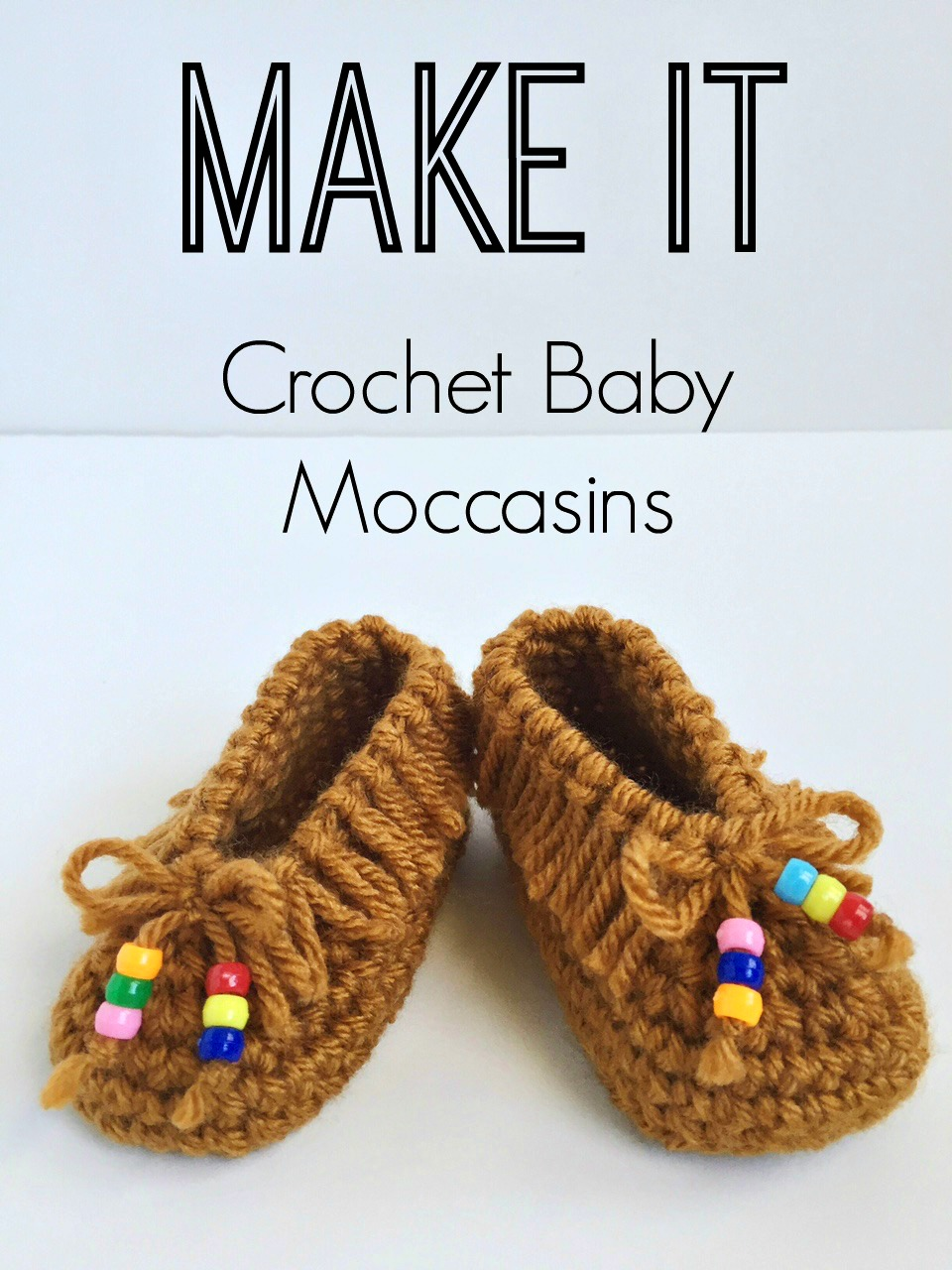 Crochet Baby Moccasins