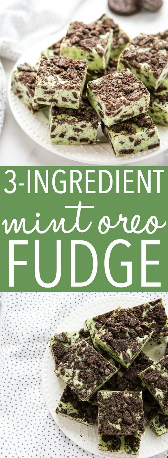 This Mint Oreo Fudge is the perfect easy treat recipe for Mint Oreo lovers, especially for St. Patrick's Day! Make it in minutes with only a few ingredients! Recipe from thebusybaker.ca! #stpatricksday #green #fudge #chocolate #whitechocolate #oreo #dessert #treat #sweet