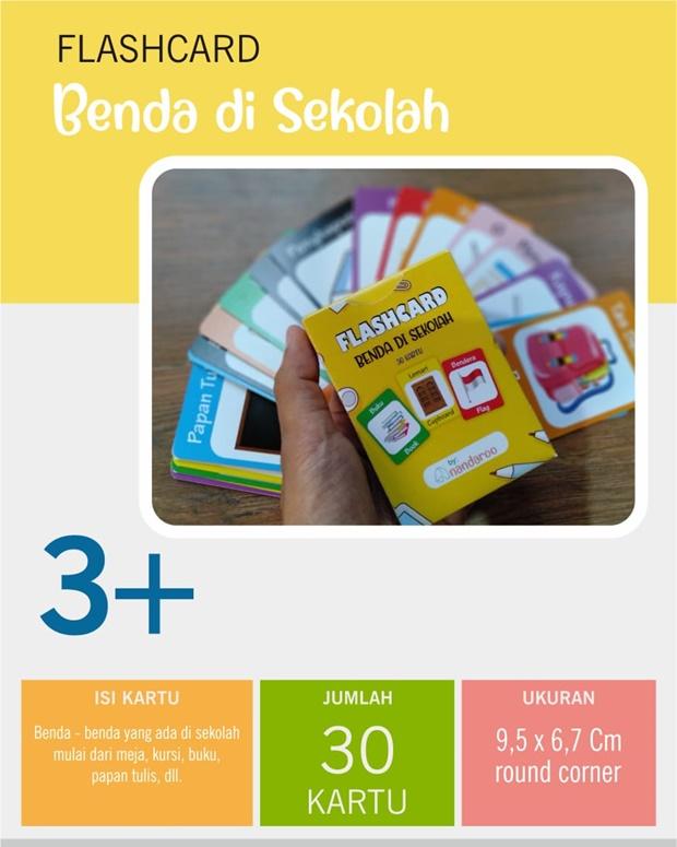 Flash Card Benda di Sekolah