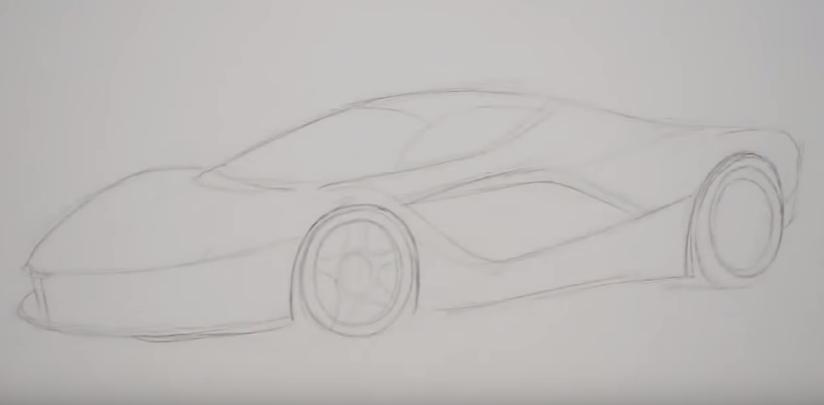 Karakalem Ferrari çizimi Nasıl Yapılır Karakalem çizimleri