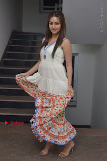 Telugu Actress Anu Emmanuel New Stills in Beautiful White Long Dress  0079.JPG