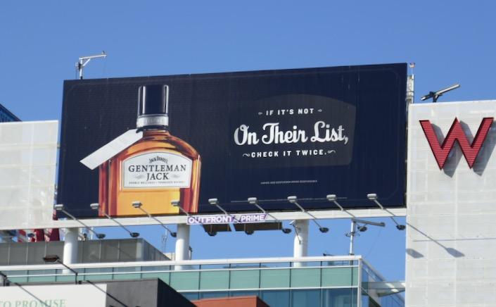 Jack Daniels Gentleman Jack on their list billboard