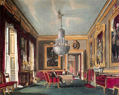West Ante Room, Carlton House, from The History of the Royal Residences by WH Pyne (1819)West Ante Room, Carlton House, from The History of the Royal Residences by WH Pyne (1819)