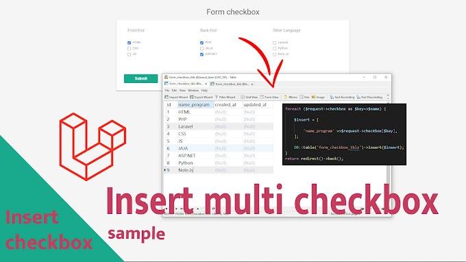 Create insert multiple checkbox Laravel