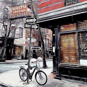 MINETTA TAVERN - Greenwich Village, NEW YORK