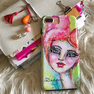 whimsical art beautiful girl iphone case