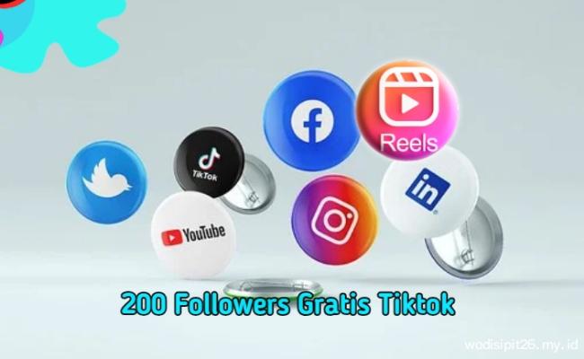 200 followers gratis tiktok