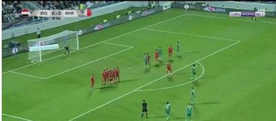 ملخص مباراة العراق والبحرين
