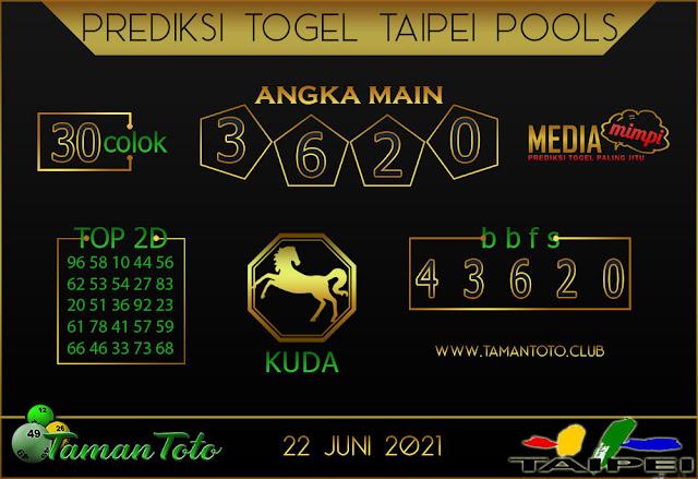 Prediksi Togel TAIPEI TAMAN TOTO 22 JUNI 2021