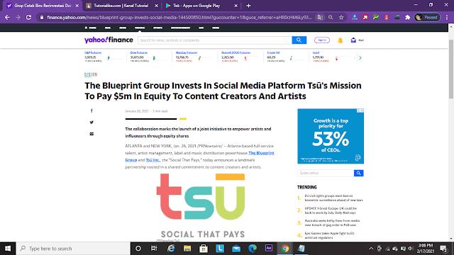 yahoo-finance-tentang-tsu-social-that-pays