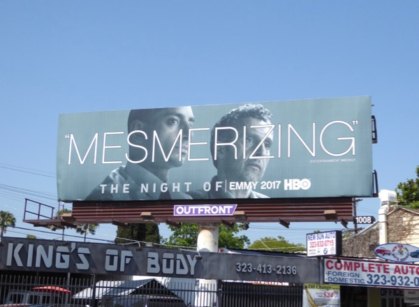 The Night Of Mesmerizing Emmy FYC billboard