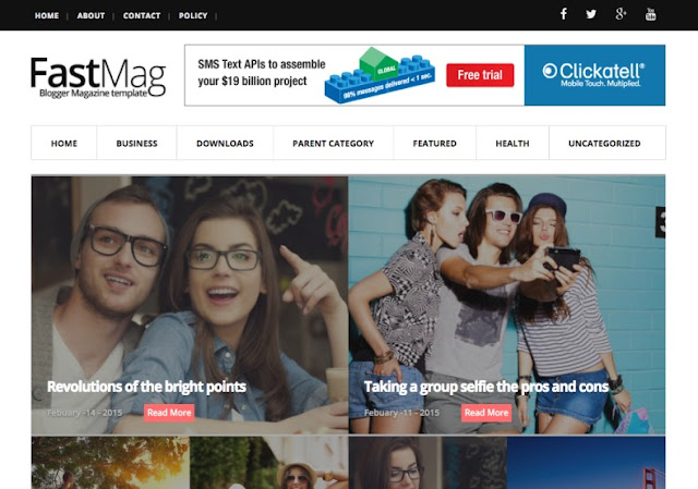 [ Free Download ] Fast Mag Blogger Template