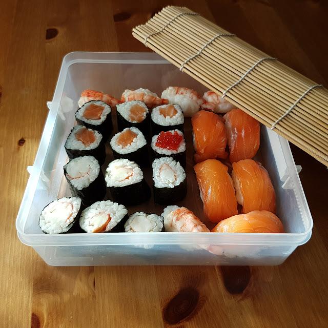 Sushi maki y nigiri