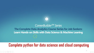 Complete Python for data science and cloud computing