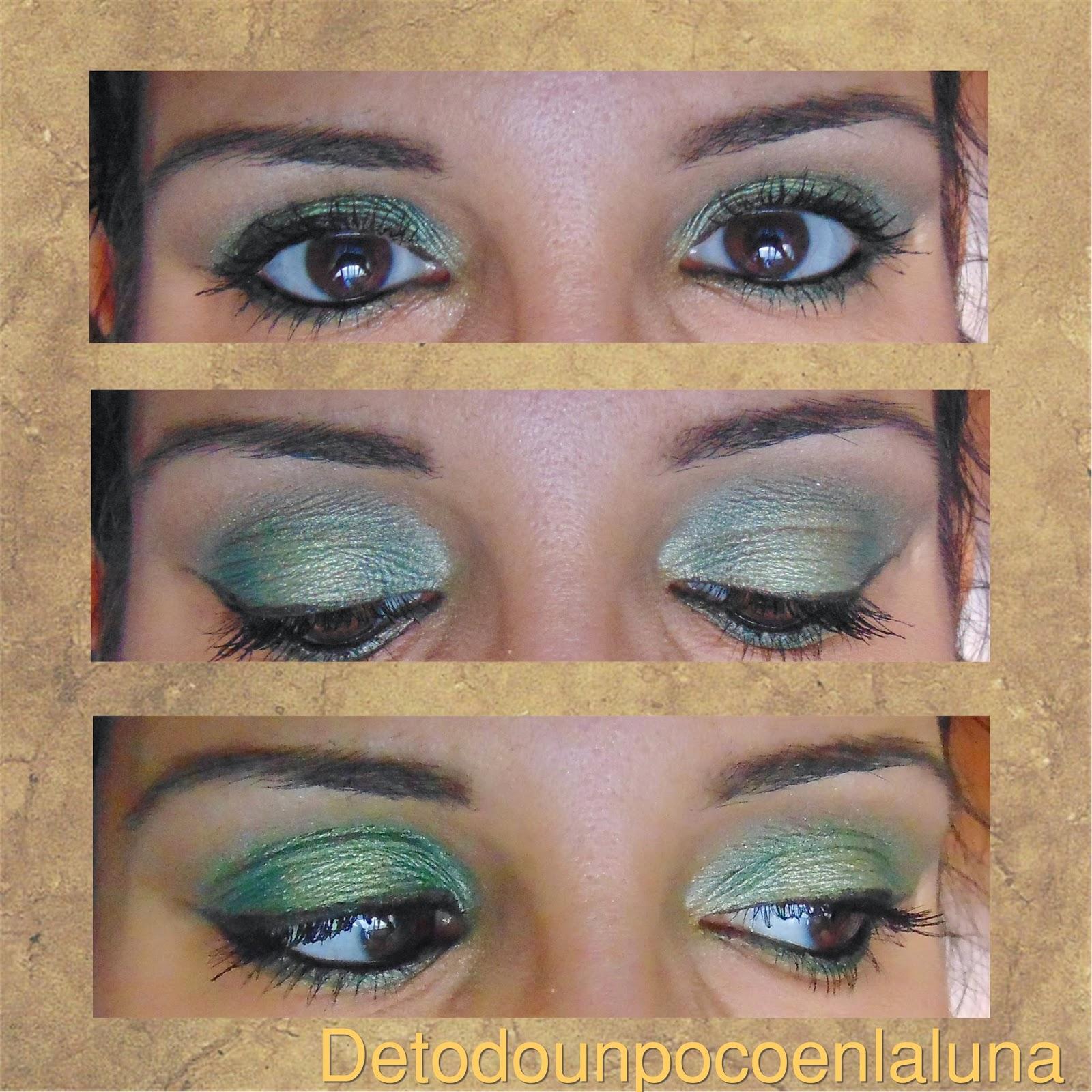 """Look en tonos verdes """"Garden of Eden"""" de sleekmakeup"""