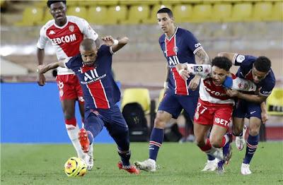 ملخص واهداف مباراة باريس سان جيرمان وموناكو (2-3) في الدوري الفرنسي