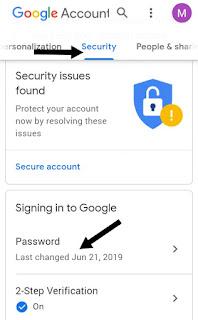 Cara Mengganti Password Gmail di Hp Android