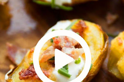 Best Mini Twice Baked Potatoes Recipe #cheese #bacon #potato #loadedpotatoes