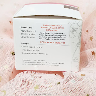 Review Scarlett Whitening Brightly Ever After Night Cream