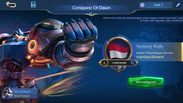 Skin ML gratis permanen - conquest of dawn