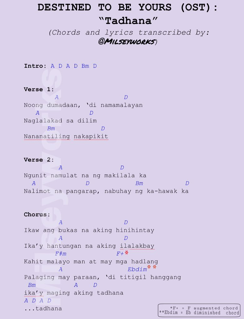Tadhana Chords And Lyrics Philippin News Collections