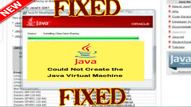 error could not create the java virtual machine,Best way  to  fix resolve could not create Java Virtual Machine?,Can't create Java Virtual Machine A fatal exception has occurred in eclipse?,error could not create the java virtual machine