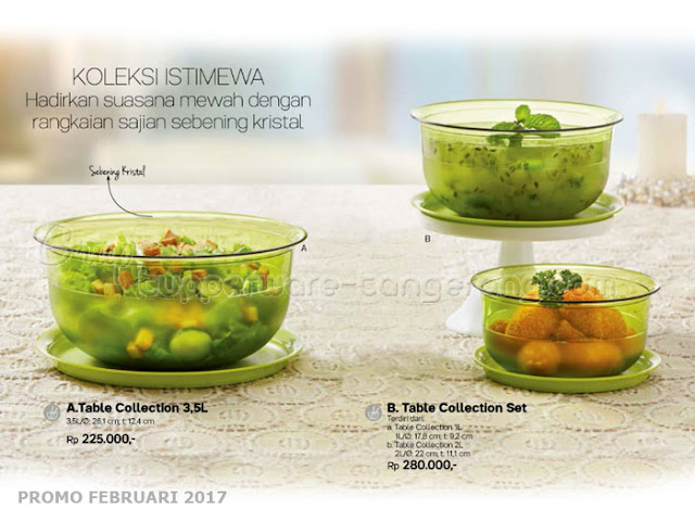 Table Collectionn Tupperware Promo Februari 2017