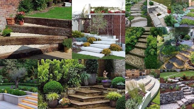 Διαμορφώσεις κήπου με σκάλες - σκαλοπάτια