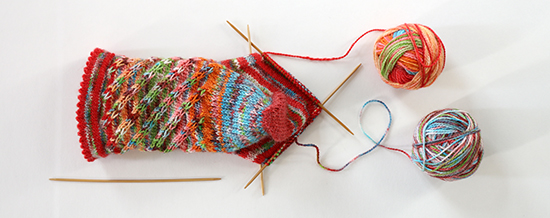 Knitting Socks with Kool-Aid Dyed Wool Yarn