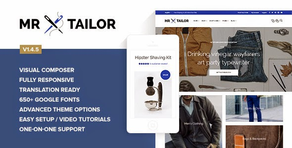 Download Free Mr. Tailor v.1.4.5 Responsive WooCommerce Theme