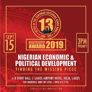 13th NIGERIA MEDIA NITE-OUT AWARDS UNVEILS NOMINEES