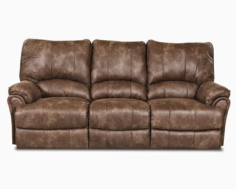 Microfiber Dual Reclining Sofa
