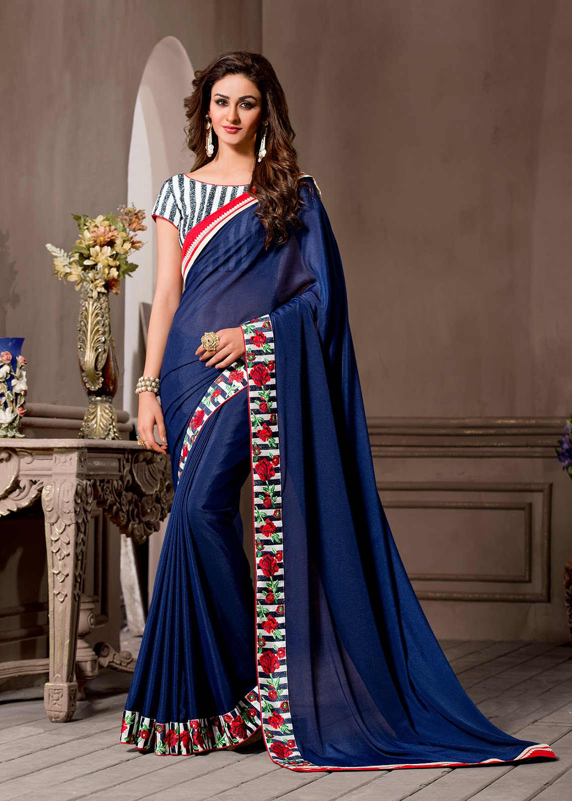 Catalog No.346 – Pure Georgette Designer And Fancy Designer Saree