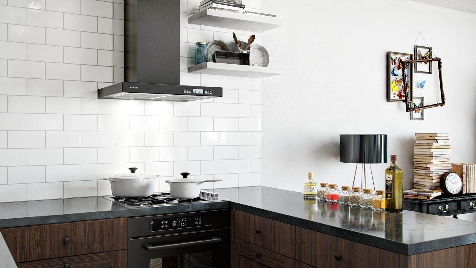 Klasyczna kuchnia w nowoczesnym wnętrzu  Bajkowe Wnętrza