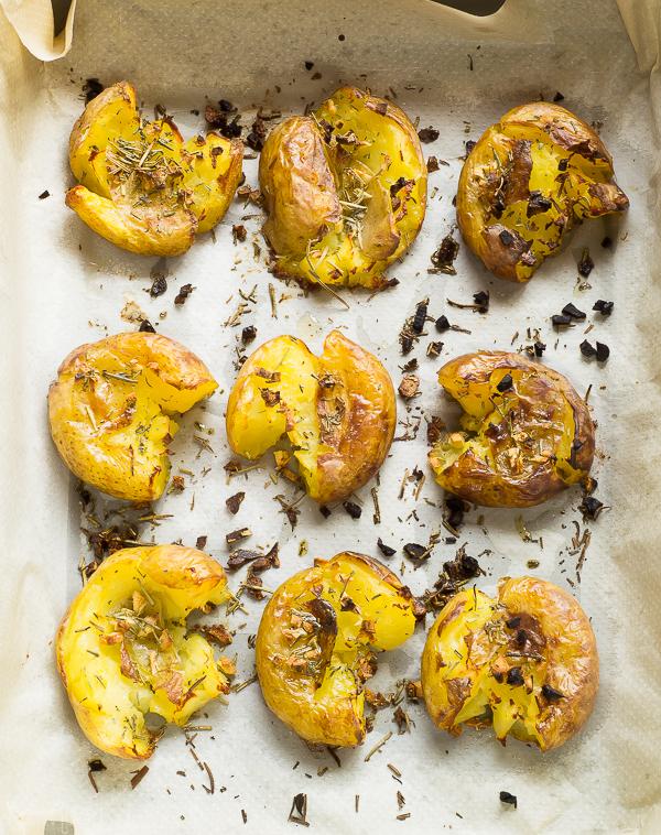 Patatas al horno con ajo y romero | la Rosa dulce