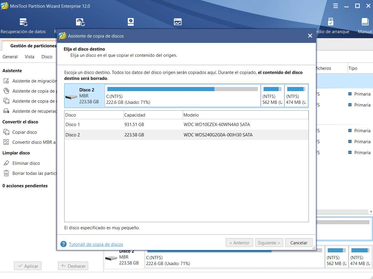 MiniTool Partition Wizard Enterprise 12.0