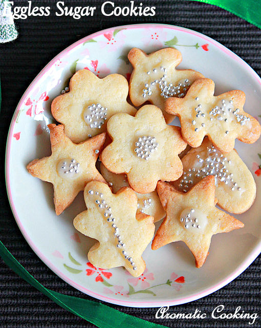 Aromatic Cooking Eggless Sugar Cookies