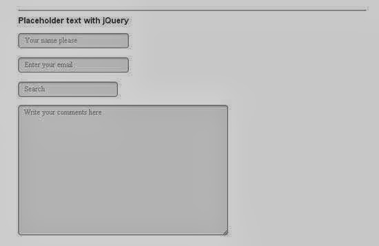 Cross-Browser HTML5 Placeholder Text