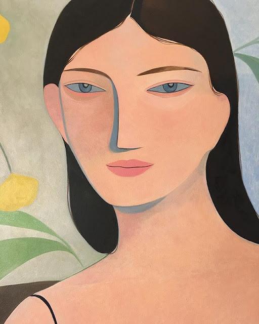 Kelly Beeman arte | dibujo en acuarela de mujer
