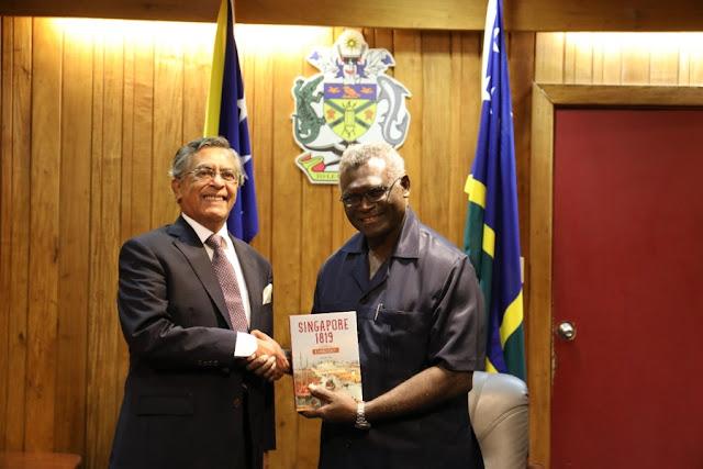 PM Solomon Island Bertemu dengan Duta Besar Singapura