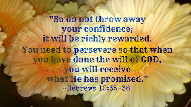 Do not throw away your confidence; it will be richly rewarded. You need to persevere so that when you have done the will of God, you will receive what he has promised.