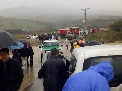 إنقاذ ثلاثة أشخاص جرفتهم مياه واد أزاغار ببوزقن في تيزي وزو