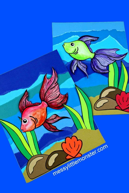 watercolor fish under the sea craft