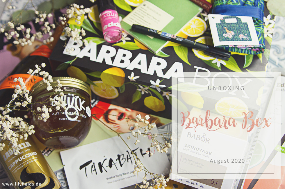 "Barbara Box - August 2020 ""La Dolce Vita"" - unboxing"