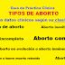 Aprende según su clínica los  tipos de abortos: Guía de Práctica Clínica