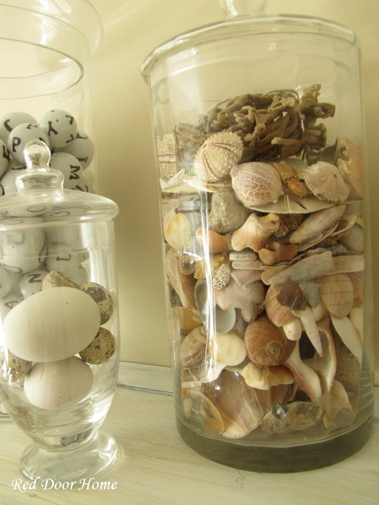 Red Door Home Decorating With Shells – An Oyster Shell Ball Tutorial