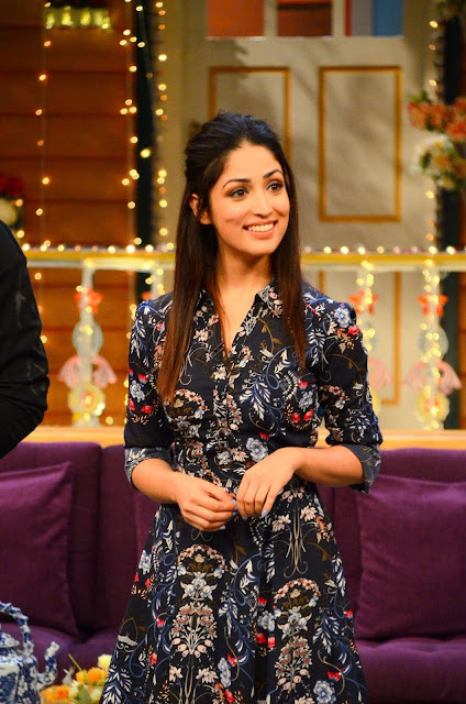 "Yami Gautam looks hot at Film ""Kaabil"" promotion on the sets of ""The Kapil Sharma Show"" in Mumbai"