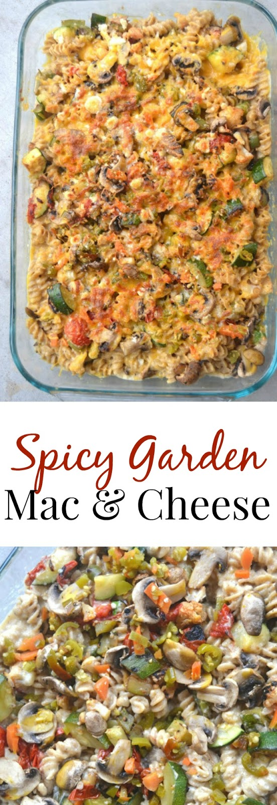 This Spicy Garden Mac and Cheese is loaded with vegetables and made lighter with a creamy cauliflower sauce. www.nutritionistreviews.com