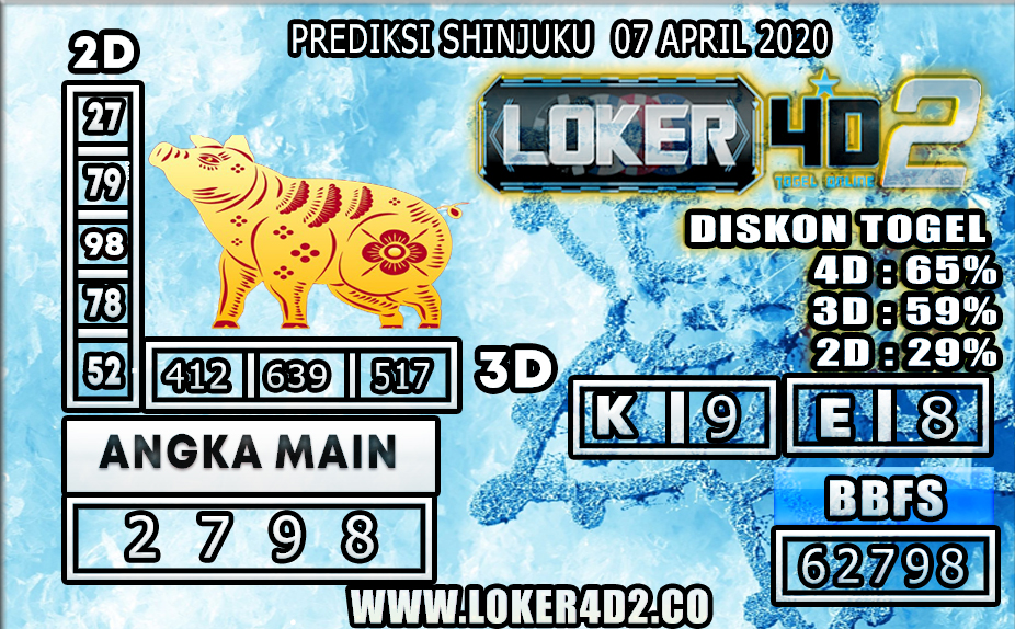 PREDIKSI TOGEL SHINJUKU LUCKY 7 LOKER4D2 07 APRIL 2020