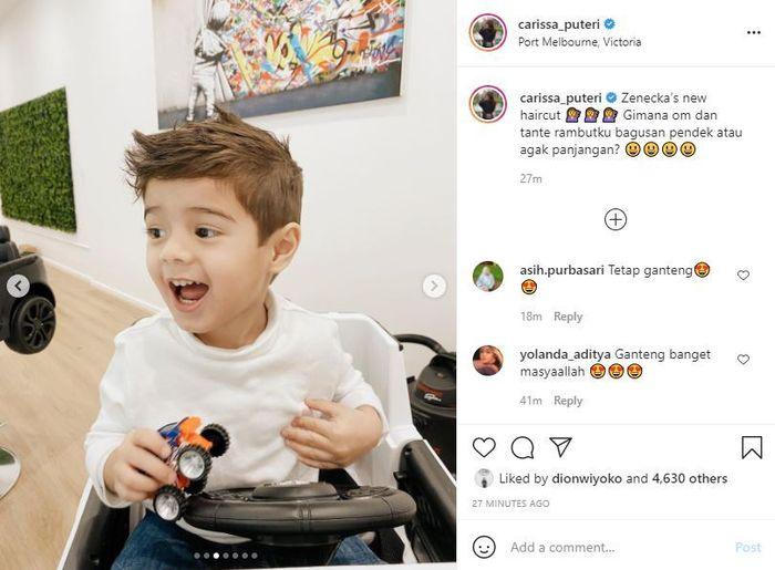 Tangkap layar Instagram @carissa_puteri